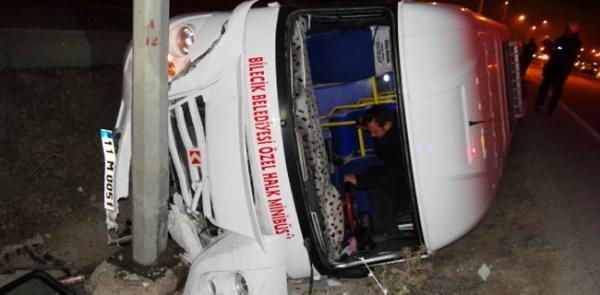 Bilecik Pelitözü Yol Ayrımındaki Kaza Ucuz Atlatıldı
