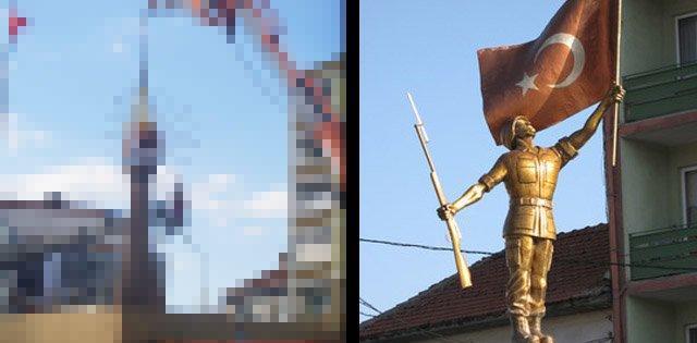 Bilecik'te Şehit Asker anıtı kaldırıldı. Yerine ….?