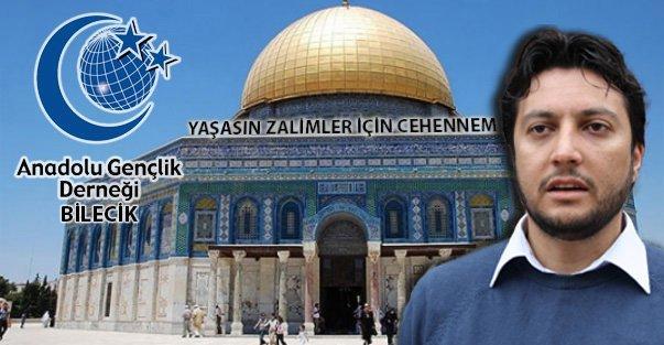AGD Bilecik'ten Mescid-i Aksa'nın ibadete kapatılması ile ilgili basın açıklaması