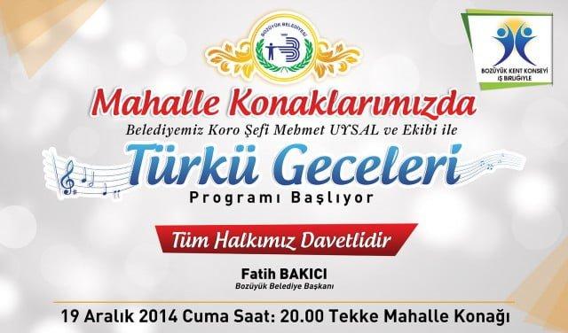 Türkü Geceleri Başlıyor 1