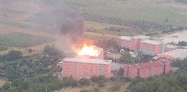 Gölpazarı açık cezaevinde yangın