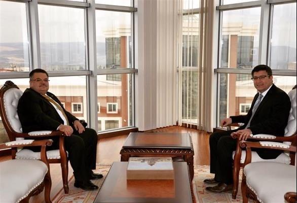 BAŞKAN SELİM YAĞCI'DAN ÜNİVERSİTE REKTÖRÜ PROF. DR. TAŞ'A ZİYARET