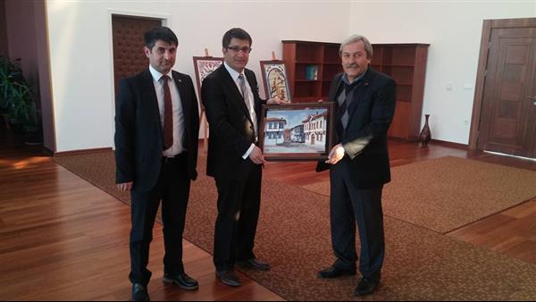 """BAŞKAN ŞAHİN'DEN YENİ REKTÖRE """"HAYIRLI OLSUN"""" ZİYARETİ"""