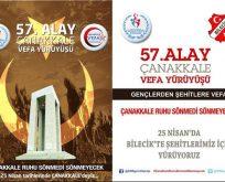 Bilecik Gençlik Spor İl Müdürlüğü 57.Alay Vefa Yürüyüşü Gerçekleştirecek