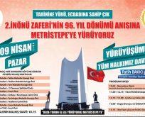 """""""TARİHİNE YÜRÜ, ECDADINA SAHİP ÇIK"""" YÜRÜYÜŞÜ"""