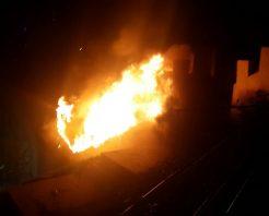 Bilecik'te üst geçitte yangın