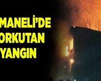 Osmaneli'de ahşap binada yangın