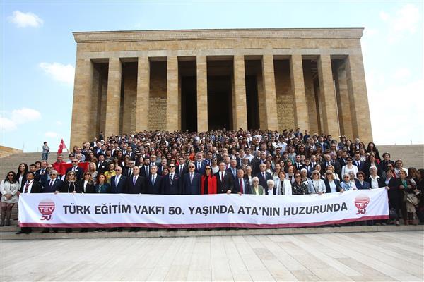TÜRK EĞİTİM VAKFI 50. YILINDA ATA'NIN HUZURUNDA