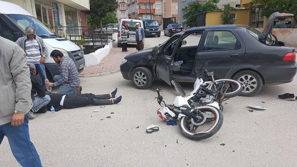 Bilecik'te trafik kazası: Motosiklet sürücüsü yaralandı