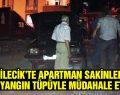Bilecik'te apartman sakinleri 3 yangın tüpüyle müdahale etti