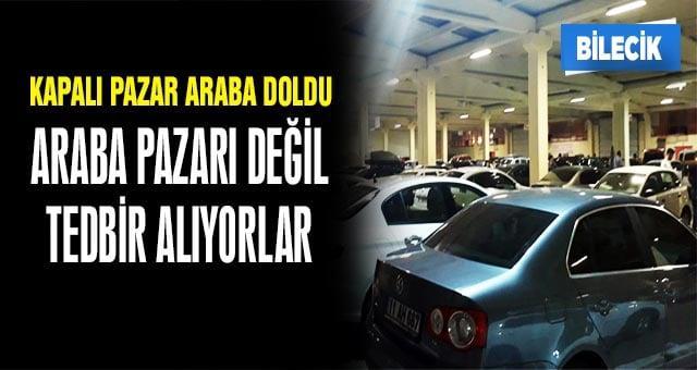 Bilecik'te vatandaşlar araçlarını güvenlik çemberine aldı