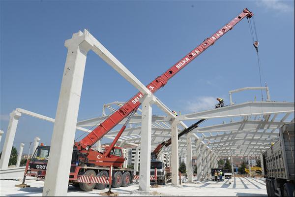 Bozüyük'te kapalı pazar inşaatı