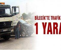 Bilecik'te kamyon ile minibüs çarpıştı 1 kişi yaralandı