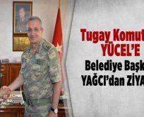 Tugay Komutanı Yücel'e Belediye Başkanı Yağcı'dan ziyaret