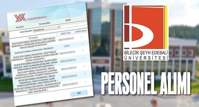 Bilecik Şeyh Edebali Üniversitesi Personel Alımı