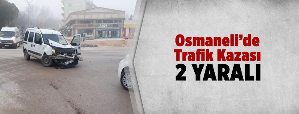 Osmaneli'de trafik kazası 2 yaralı
