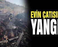 Bilecik'te bir evin çatısında yangın çıktı