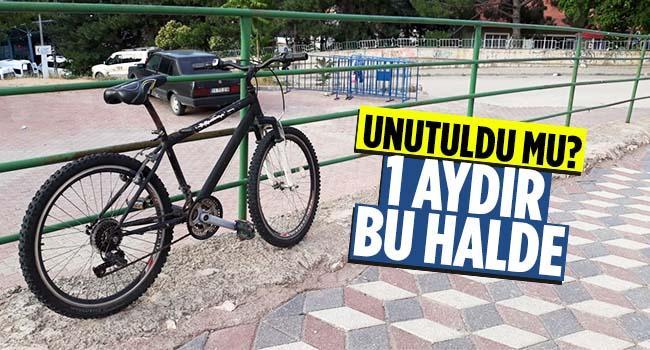 Bisiklet sahibini bekliyor