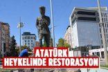 ATATÜRK HEYKELİNDE RESTORASYON ÇALIŞMASI