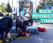 Bilecik'te motosiklet kazası, 1 yaralı