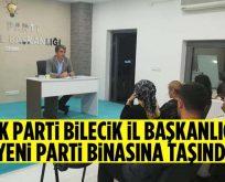 AK Parti Bilecik İl Başkanlığı Yeni Parti Binasına Taşındı