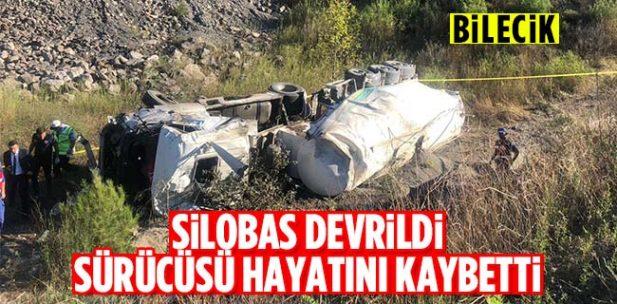 Osmaneli'de silobas şarampole devrildi 1 ölü