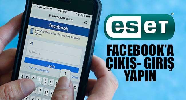 Facebook'a çıkış – giriş yapın!