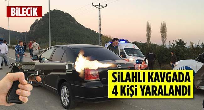 Bilecik'te silahlı kavgada 4 kişi yaralandı