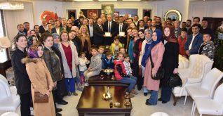 BAŞKAN BAKKALCIOĞLU'NA PAZARYERİLİLER DERNEĞİ'NDEN ZİYARET