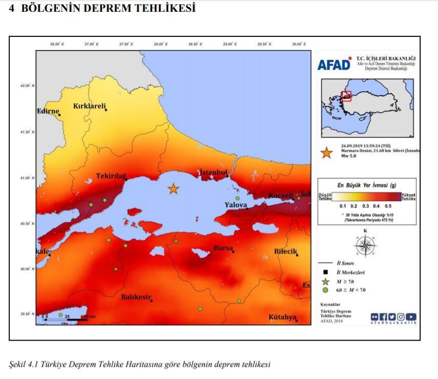 bolgenin deprem tehlikesi