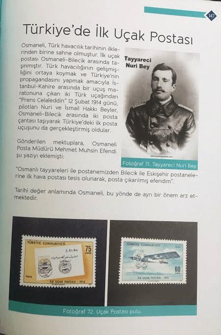 turkiyede ilk ucak postasi