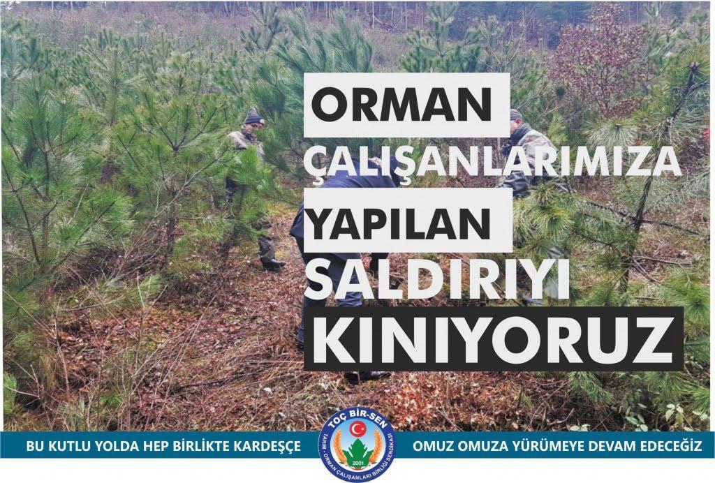 Bilecik'te Orman Calisanlarina Yapilan Saldiriyi Kinadilar 1