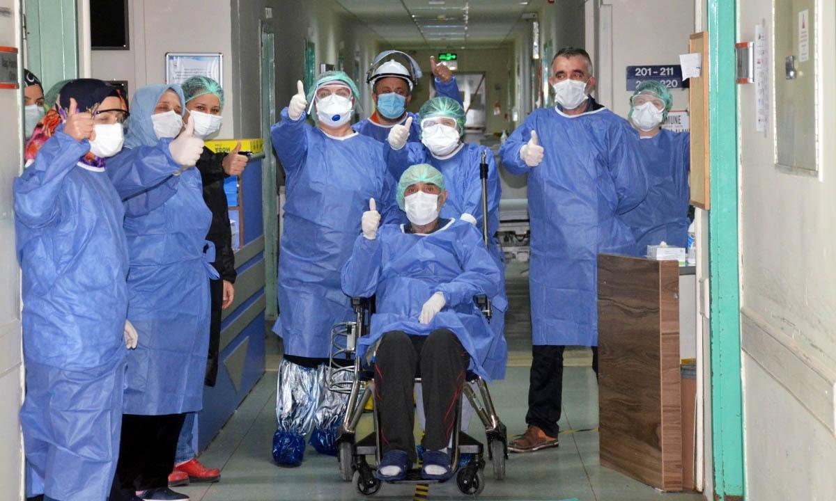 bilecik devlet hastanesi koronavirusu yenen 69 yasindaki hasta