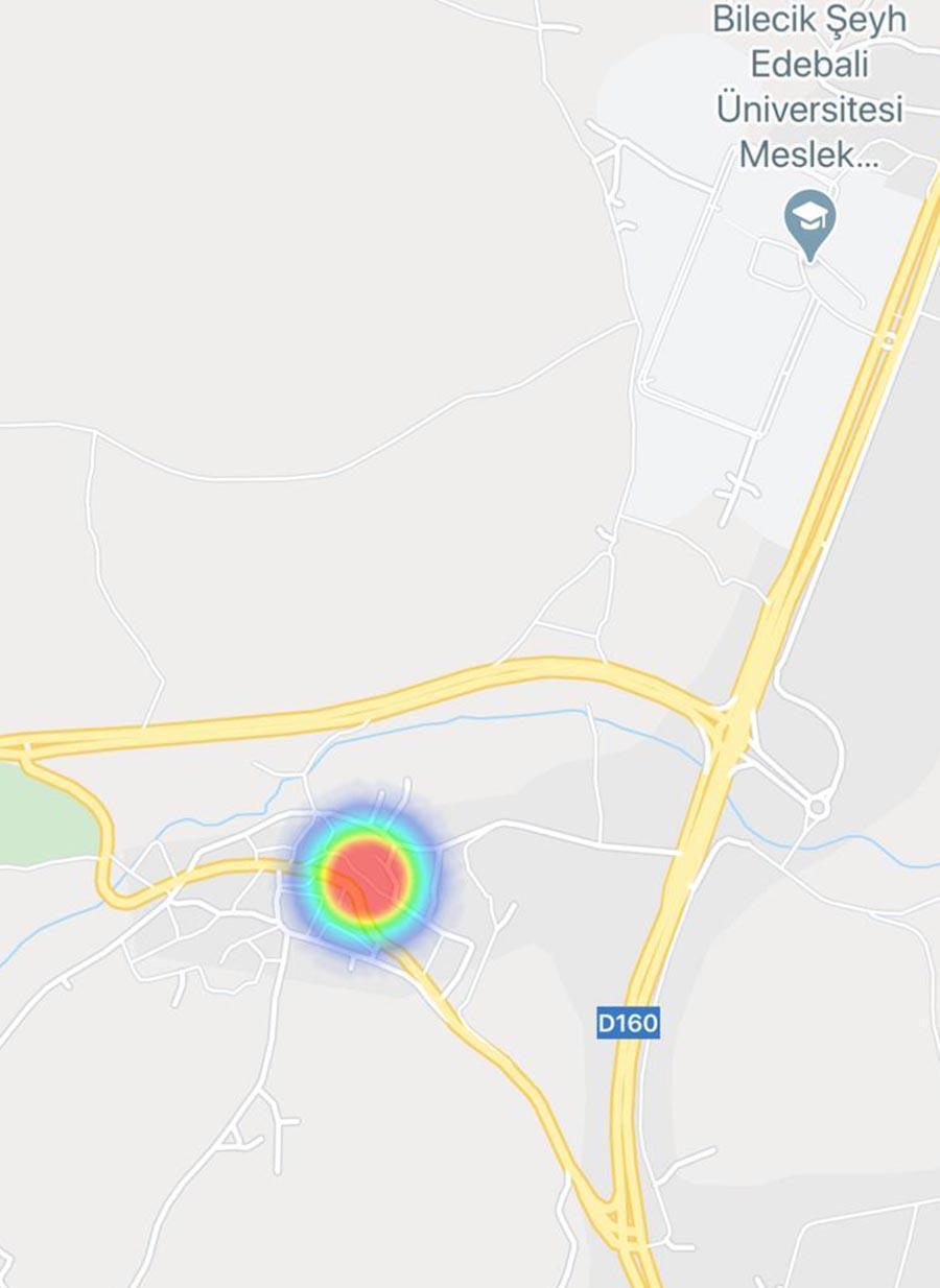 bilecik koronavirus haritası- pelitozu