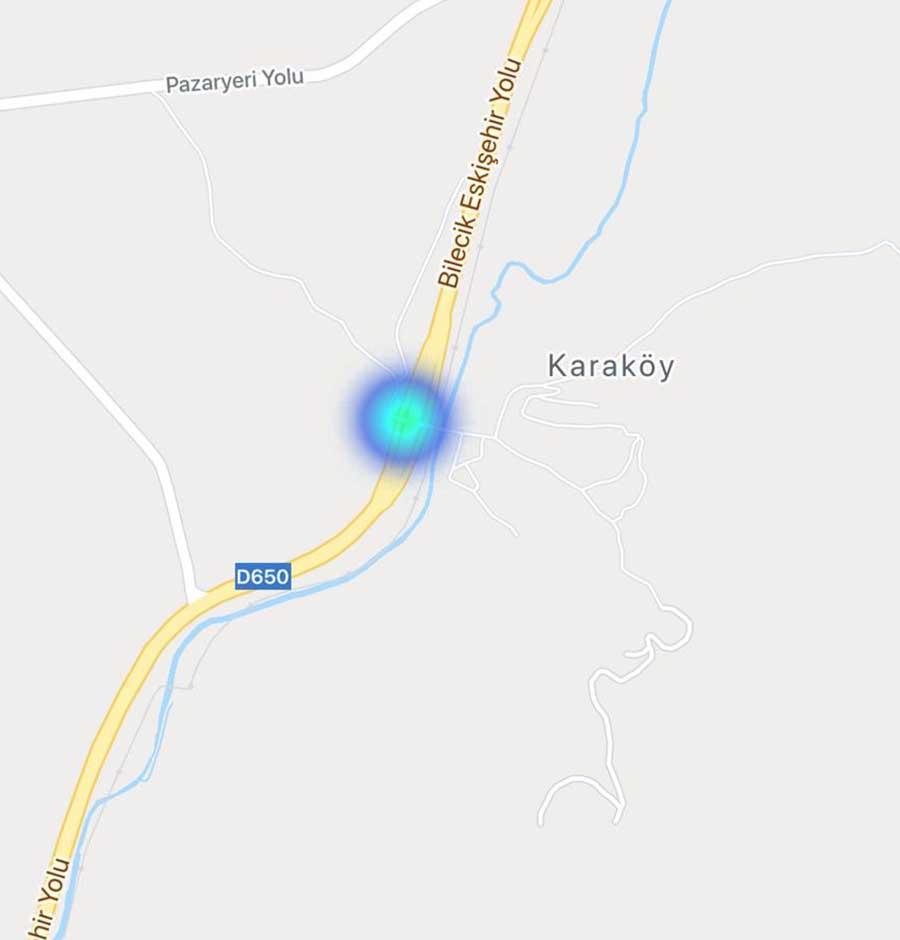 Karaköy Koronavirus Haritasi