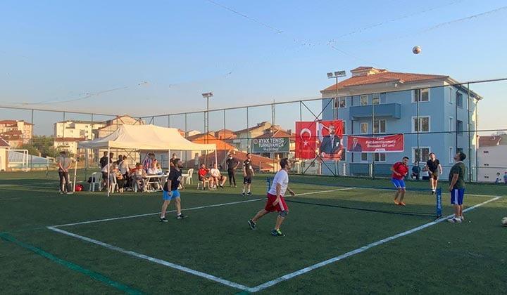 Bilecik Belediyesi Ayak Tenisi Turnuvası Başladı