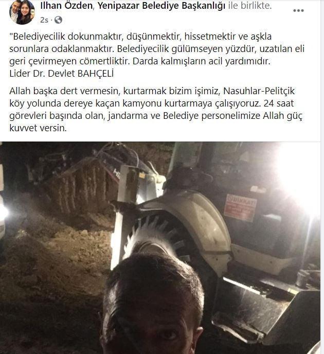 Yenipazar'da Kamyon Dereye Kaçtı. Bilecik'in Yenipazar İlçesinde geç saatlerde yaşanan kazada kamyon dereye kaçtı, Yenipazar Belediye Başkanı İlhan Özden dahil tüm ekipler seferber oldu4
