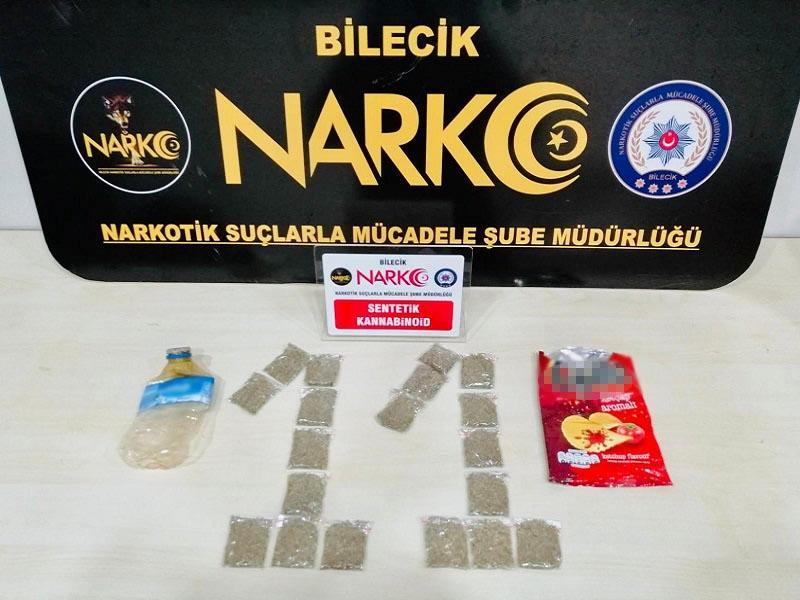 Sentetik Kannabinoid Cips Poşetine Gizlenmiş-bilecik-haber