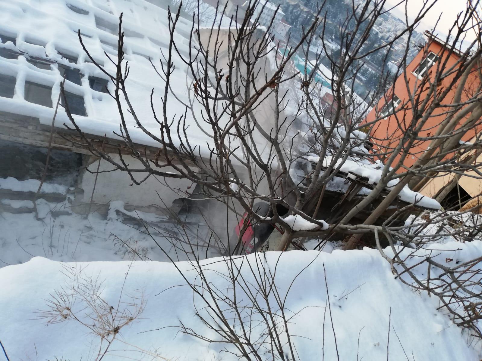 Bilecikte Metruk Evde Çıkan Yangın Söndürüldü
